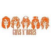 Vinilo Guns N Roses Naranja Medida M