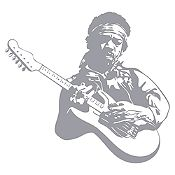 Vinilo Jimy Hendrix Plata Medida M