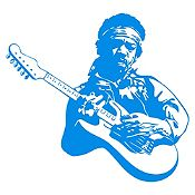 Vinilo Jimy Hendrix Azul Claro Medida G