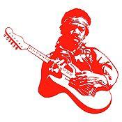 Vinilo Jimy Hendrix Rojo Medida P