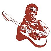 Vinilo Jimy Hendrix Marrón Medida G