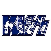 Vinilo Kiss Azul Oscuro Medida P