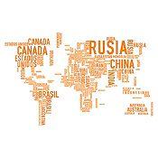 Vinilo Países del Mundo Naranja Medida P