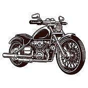 Vinilo Harley Davidson Negro Medida P