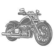 Vinilo Harley Davidson Gris Oscuro Medida G