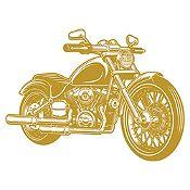 Vinilo Harley Davidson Dorado Medida M