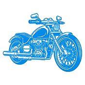 Vinilo Harley Davidson Azul Claro Medida P
