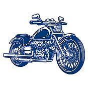 Vinilo Harley Davidson Azul Oscuro Medida P