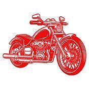 Vinilo Harley Davidson Rojo Medida G