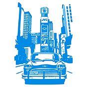 Vinilo Times Square Azul Claro Medida M