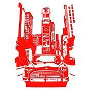 Vinilo Times Square Rojo Medida G
