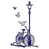 Vinilo Bcicleta Y Farol Azul Oscuro Medida P