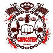 Vinilo Gangster Marrón, Rojo Medida P