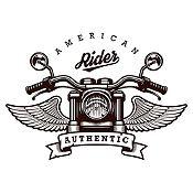 Vinilo American Rider Negro Medida G