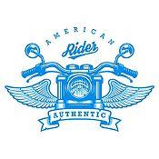 Vinilo American Rider Azul Claro Medida M