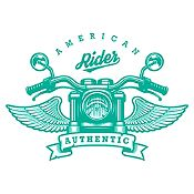 Vinilo American Rider Turquesa Medida M