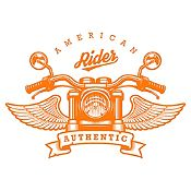 Vinilo American Rider Naranja Medida P