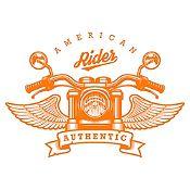 Vinilo American Rider Naranja Medida M