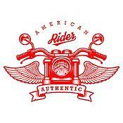 Vinilo American Rider Rojo Medida P