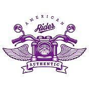 Vinilo American Rider Morado Medida G