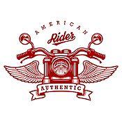 Vinilo American Rider Vinotinto Medida G