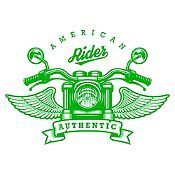 Vinilo American Rider Verde Claro Medida M