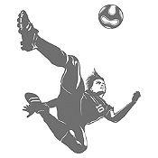 Vinilo Jugador de Fútbol Gris Oscuro Medida M