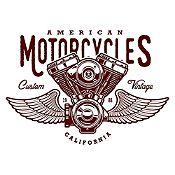 Vinilo American Motorcycles Marrón Medida P