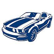 Vinilo Chevy Camaro Azul Oscuro Medida P