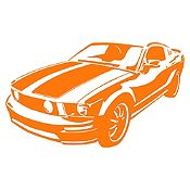 Vinilo Chevy Camaro Naranja Medida P