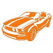 Vinilo Chevy Camaro Naranja Medida G