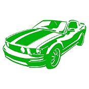 Vinilo Chevy Camaro Verde Claro Medida M