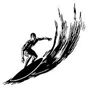 Vinilo Surfer Negro Medida G