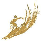 Vinilo Surfer Dorado Medida M