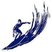 Vinilo Surfer Azul Oscuro Medida P
