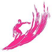 Vinilo Surfer Fucsia Medida G