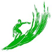 Vinilo Surfer Verde Claro Medida G
