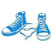 Vinilo Zapatillas Azul Claro Medida M