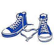 Vinilo Zapatillas Azul Medio Medida G