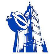Vinilo Big Ben Azul Medio Medida M