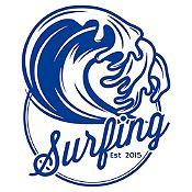 Vinilo Surfing Azul Oscuro Medida P