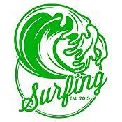 Vinilo Surfing Verde Claro Medida M
