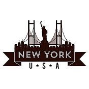 Vinilo New York Negro Medida P
