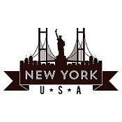 Vinilo New York Negro Medida M