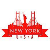 Vinilo New York Rojo Medida G