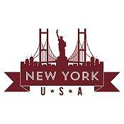 Vinilo New York Marrón Medida P