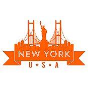 Vinilo New York Naranja Medida M