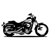 Vinilo Moto Harley Negro Medida M
