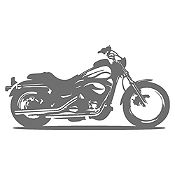 Vinilo Moto Harley Gris Oscuro Medida M