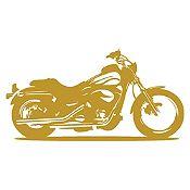 Vinilo Moto Harley Dorado Medida P